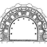 Административное здание у Красных ворот. Зал заседаний. Плафон