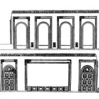 Административное здание у Красных ворот. Зал заседаний. Развертка стен