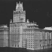 Перспективный вид здания со стороны площади Красные ворота. Модель
