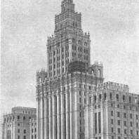 Перспективный вид здания со стороны площади Красные ворота (окончательный вариант)