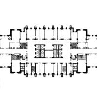 Административное здание на Смоленской площади. План типового этажа