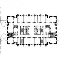 Административное здание на Смоленской площади. План 13-го этажа