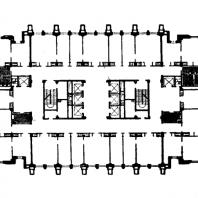 Административное здание на Смоленской площади. План 14-19 этажей