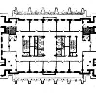 Административное здание на Смоленской площади. План 20-го этажа