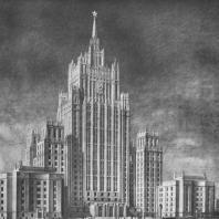 Перспектива здания со стороны Смоленской площади (окончательный вариант)