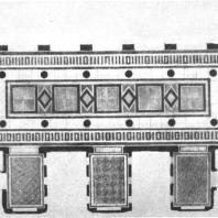 Вестибюль гардеробной здания на Смоленской площади. Рисунок пола