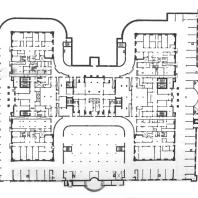 Жилой дом на площади Восстания. План подвального этажа