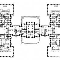 Жилой дом на площади Восстания. План 1-го этажа