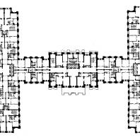 Жилой дом на площади Восстания. План 4-6-го этажей