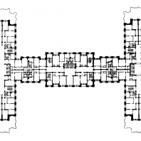 Жилой дом на площади Восстания. План 9-12-го этажей