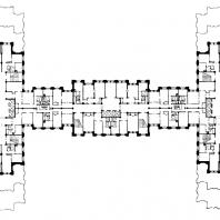 Жилой дом на площади Восстания. План 13-14-го этажей