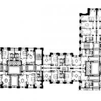 Жилой дом на площади Восстания. Фрагмент типового плана этажа