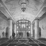 Перспективный вид вестибюля здания на площади Восстания