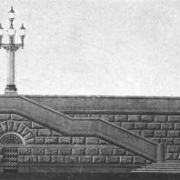Фрагмент подпорной стенки здания на площади Восстания