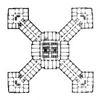 Административное здание в Зарядье. План 5-8-го этажей