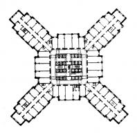 Административное здание в Зарядье. План 9—14-го этажей