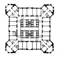 Административное здание в Зарядье. План 15—20-го этажей