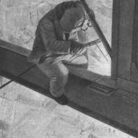 Сварка каркаса на высоте 20-го этажа