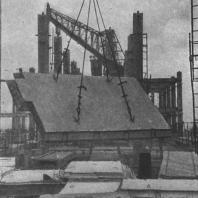 Подъем железобетонных плит междуэтажных перекрытий