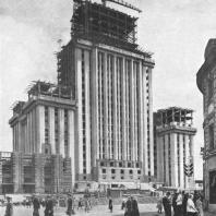 Высотное здание на Смоленской площади. Стальной каркас принимает архитектурные формы