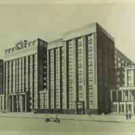 Перспективный вид Дома СНК со стороны пл. Свердлова (проект)