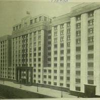 Дом СНК СССР в Москве. Вид здания с противоположной стороны Охотного ряда