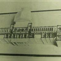 Дом СНК СССР в Москве. Фото с макета горизонтального разреза здания