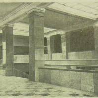 Дом СНК СССР в Москве. Главная лестница, площадка 3-го этажа