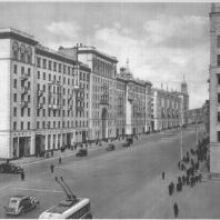 Москва. Улица Горького. Жилые дома. А.Г. Мордвинов. 1940