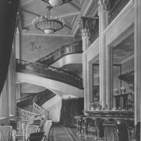 Москва. Улица Горького. Жилой дом. Кафе «Коктейль-холл». 1940
