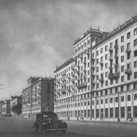 Москва. Большая Калужская улица. Жилые дома. А.Г. Мордвинов. 1940