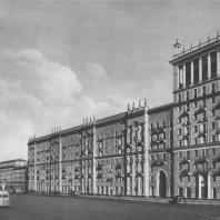 Москва. Можайское шоссе. Жилой дом. А.М. Алхазов, А.В. Мезьер. 1940