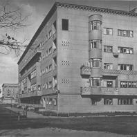 Москва. Шоссе Энтузиастов. Жилые дома. Г.С. Гурьев-Гуревич, А.М. Зальцман. 1936