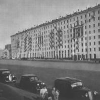 Москва. Садово-Сухаревская улица. Жилой дом. А.М. Алхазов, Д.К. Мирович. 1940