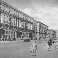 Москва. 1-я Мещанская улица. Жилые дома, П.А. Нестеров, И.В. Миньков. 1938