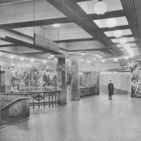 Москва. Метрополитен. Станция Комсомольская. Подходы к перонному залу. Д.Н. Чечулин. 1935