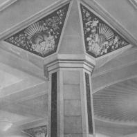 Москва. Метрополитен. Станция Киевская. Капитель колонны в аванзале