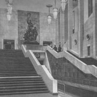 Москва. Метрополитен. Станция Измайловская. Лестница. Б.С. Виленский. 1943