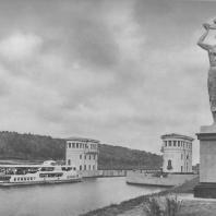 Канал имени Москвы. Башня управления шлюза № 5. Б.Д. Савицкий, Ю.А. Кун. 1937
