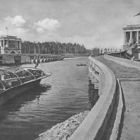 Канал имени Москвы. Заградительные ворота у Большой Волги. И.К. Белдовский. 1937