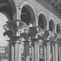 Всесоюзная сельскохозяйственная выставка. Павильон «Грузинская ССР». Детали колоннады. 1939
