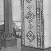 Всесоюзная сельскохозяйственная выставка. Павильон «Азербайджанская ССР». Детали портала. 1939