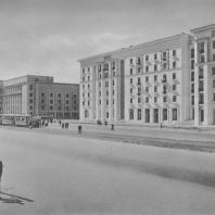 Ленинград. Московское шоссе. Жилой дом. Е.А. Левинсон, И.И. Фомин. 1939—1940