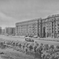 Ленинград. Московское шоссе. Жилые дома. В.В. Попов. 1938—1940