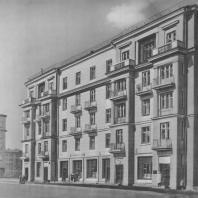 Ленинград. Малая Охта. Жилой дом. Г.А. Симонов, Б.Р. Рубаненко. 1938