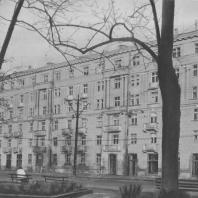 Ленинград. Улица Стачек. Жилой дом. В.А. Каменский, Г.А. Оль. 1936—1939