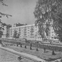 Ленинград. Лесное. Жилой дом. Г.А. Симонов, Б.Р. Рубаненко. 1933—1938