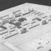 Ташкент. Микрорайон Ц-13 (макет). Проект разработан институтами «Ленпроект» и ЛенЗНИИЭП. Осуществляется «Главленинградстроем»