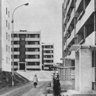 Ташкент. Микрорайон К-25 в Чиланзарском районе. Проект разработан институтом «Ленпроект». Осуществлен «Главленинградстроем»