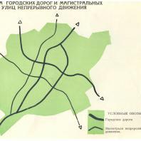 Ташкент. Схема городских дорог и магистральных улиц непрерывного движения